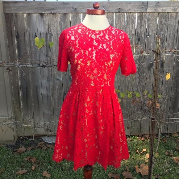 Lush Dresses & Skirts - Red Lush Lace Cocktail Dress